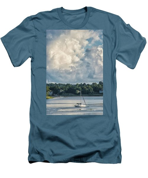 Stormy Sunday Morning On The Navesink River Men's T-Shirt (Slim Fit) by Gary Slawsky