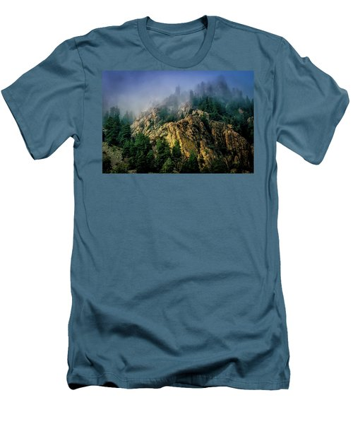 Stormy Wasatch- Fog Men's T-Shirt (Athletic Fit)