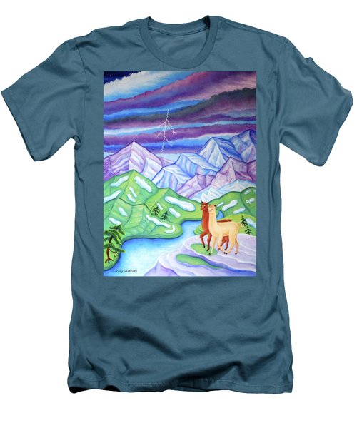 Stormy Weather Men's T-Shirt (Slim Fit) by Tracy Dennison