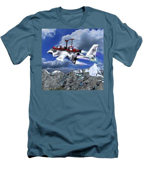 Stowing The Lift Men's T-Shirt (Slim Fit) by Dave Luebbert