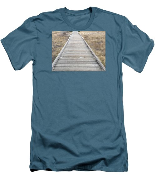 Straight And Narrow Men's T-Shirt (Slim Fit) by Russell Keating