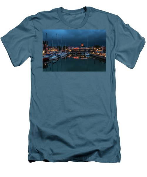 Stralsund At The Habor Men's T-Shirt (Slim Fit) by Martina Thompson