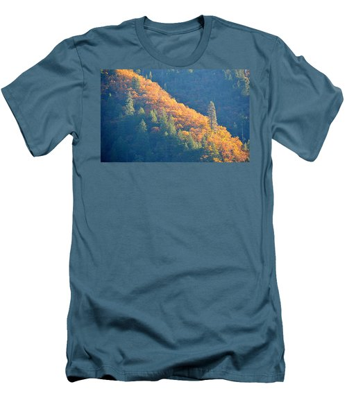 Men's T-Shirt (Athletic Fit) featuring the photograph Streak Of Gold by AJ Schibig