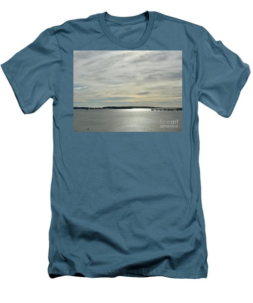 Striated Sky Over Casco Bay Men's T-Shirt (Athletic Fit)