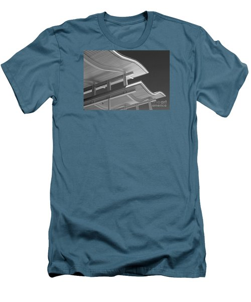Structure Abstract 6 Men's T-Shirt (Slim Fit) by Cheryl Del Toro