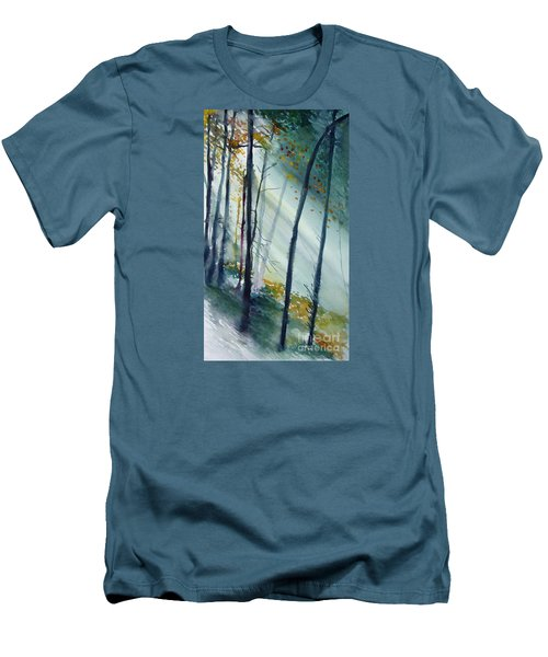 Men's T-Shirt (Slim Fit) featuring the painting Study The Trees by Allison Ashton