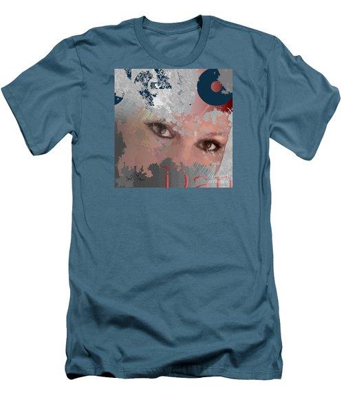 Men's T-Shirt (Slim Fit) featuring the digital art Subway Walls by Leo Symon