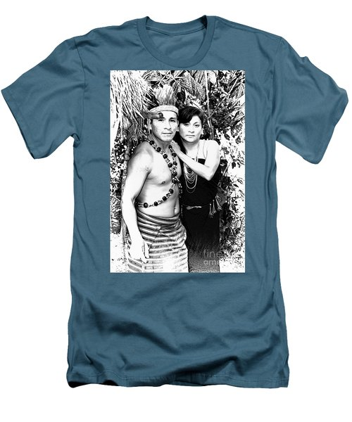 Men's T-Shirt (Slim Fit) featuring the photograph Sucua Shaman And Spouse by Al Bourassa