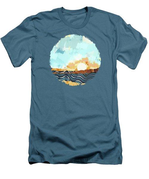 Summer Beach Sunset Men's T-Shirt (Athletic Fit)