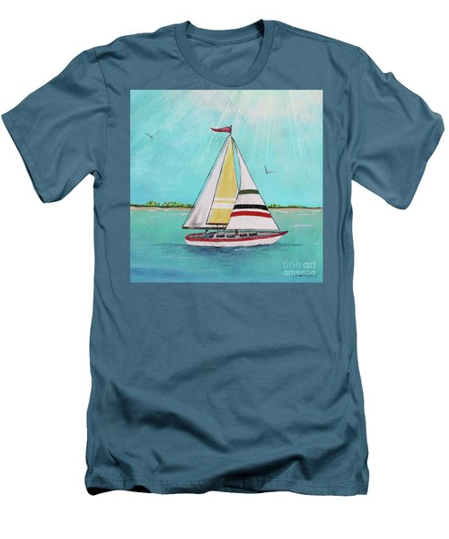 Men's T-Shirt (Slim Fit) featuring the painting Summer Breeze-d by Jean Plout