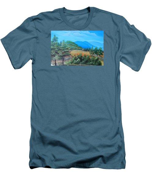 Summer Fields 2 Men's T-Shirt (Slim Fit) by Remegio Onia