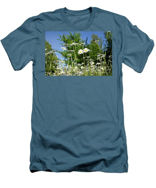 Men's T-Shirt (Athletic Fit) featuring the photograph Summer Flowers by Kennerth and Birgitta Kullman