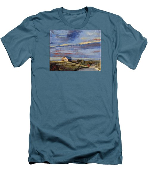 Summer Glow Men's T-Shirt (Slim Fit) by Trina Teele