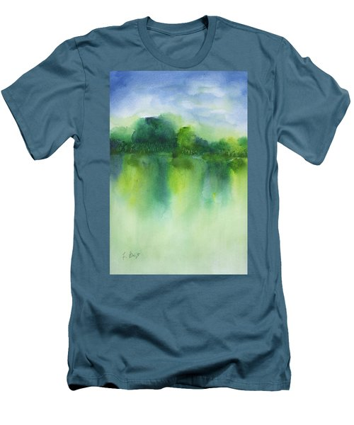 Summer Landscape Men's T-Shirt (Athletic Fit)