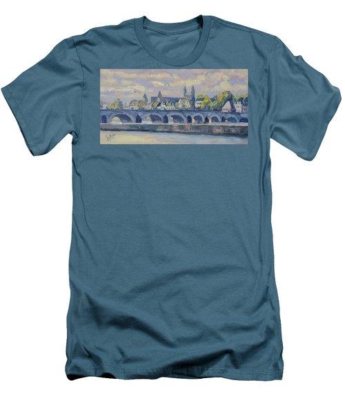 Summer Meuse Bridge, Maastricht Men's T-Shirt (Athletic Fit)