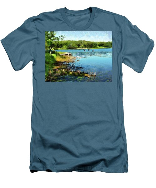 Summer On The Lake Men's T-Shirt (Athletic Fit)