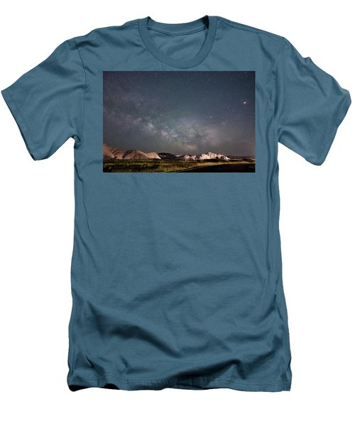 Summer Sky At Badlands  Men's T-Shirt (Athletic Fit)