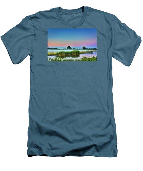 Summer Sunrise Men's T-Shirt (Slim Fit) by Nadia Sanowar