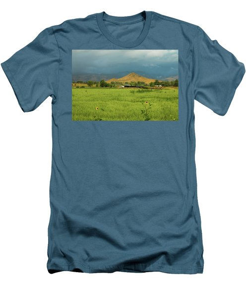 Men's T-Shirt (Athletic Fit) featuring the photograph Summer View Of  Hay Stack Mountain by James BO Insogna