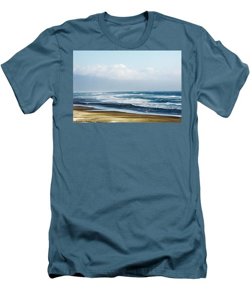 Summer Waves Netarts Oregon Men's T-Shirt (Athletic Fit)