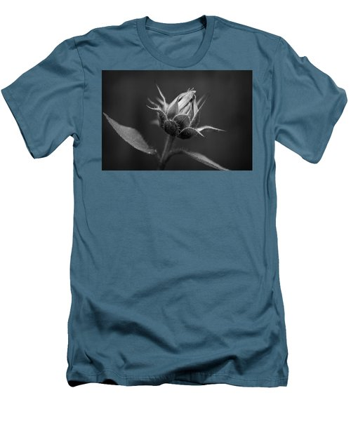 Sun Flower Blossom Bw Men's T-Shirt (Athletic Fit)