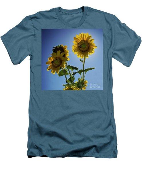 Men's T-Shirt (Slim Fit) featuring the photograph Sun Flowers by Brian Jones