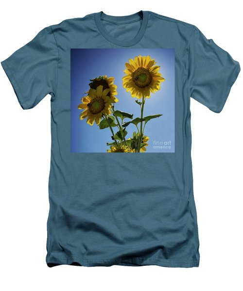 Sun Flowers Men's T-Shirt (Athletic Fit)
