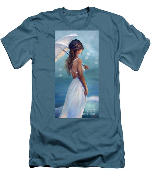 Men's T-Shirt (Slim Fit) featuring the painting Sun Kissed by Michael Rock