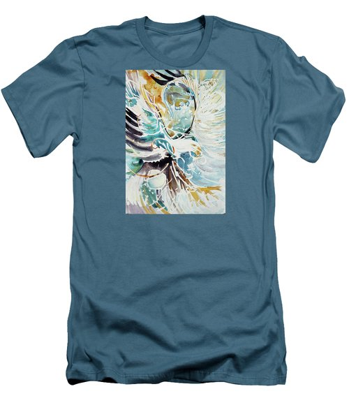 Sun Moon Water Sky Men's T-Shirt (Athletic Fit)