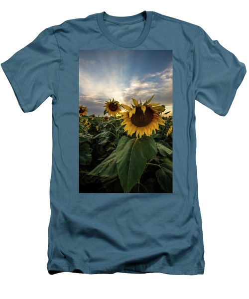 Men's T-Shirt (Athletic Fit) featuring the photograph Sun Rays  by Aaron J Groen