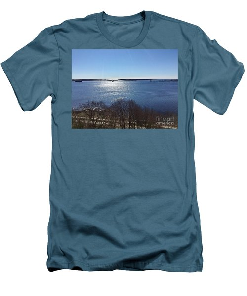 Sun Shiny Casco Bay Men's T-Shirt (Athletic Fit)