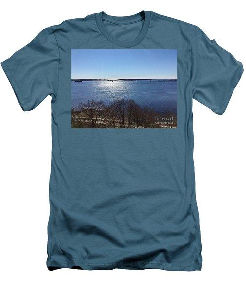 Sun Shiny Casco Bay Men's T-Shirt (Athletic Fit)