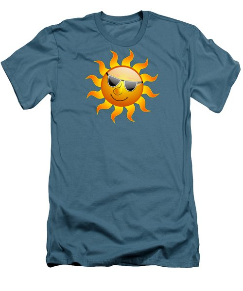 Men's T-Shirt (Slim Fit) featuring the digital art Sun With Sunglasses by Movie Poster Prints