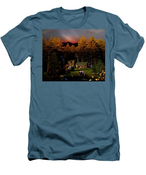 Sundown In The Rockies Men's T-Shirt (Slim Fit) by J Griff Griffin