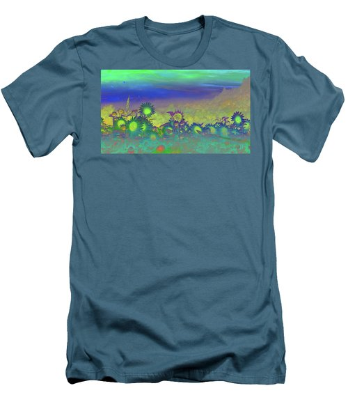 Sunflower Serenade Men's T-Shirt (Slim Fit) by Mike Breau