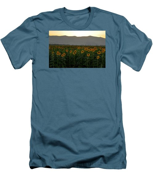 Men's T-Shirt (Slim Fit) featuring the photograph Sunflowers by Dubi Roman