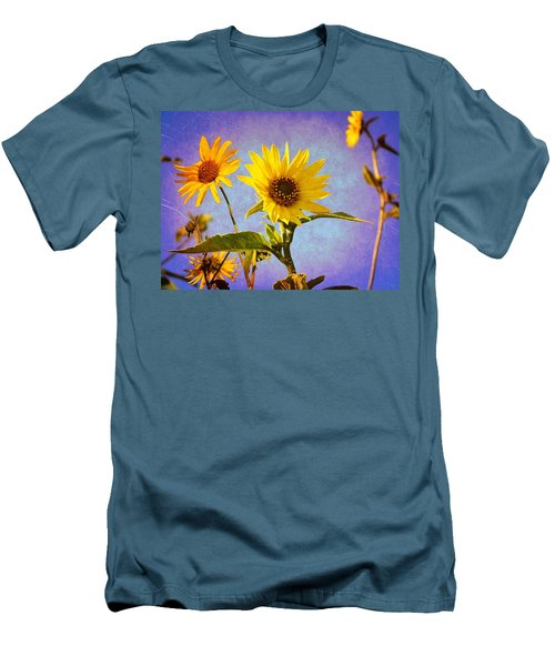 Sunflowers - The Arrival Men's T-Shirt (Slim Fit) by Glenn McCarthy Art and Photography