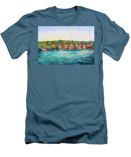 Summer In Skaneateles Ny Men's T-Shirt (Athletic Fit)