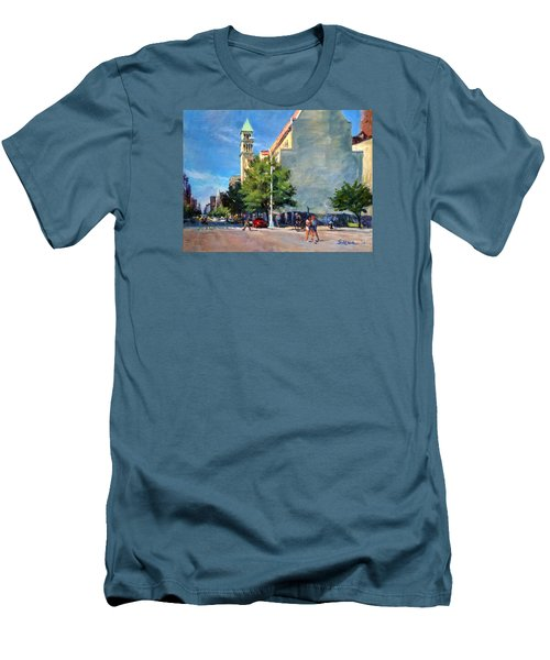 Summer Morning Near St. Michael's Church, Amsterdam Ave. Men's T-Shirt (Athletic Fit)