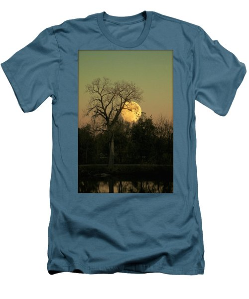 Men's T-Shirt (Slim Fit) featuring the photograph November Supermoon  by Chris Berry