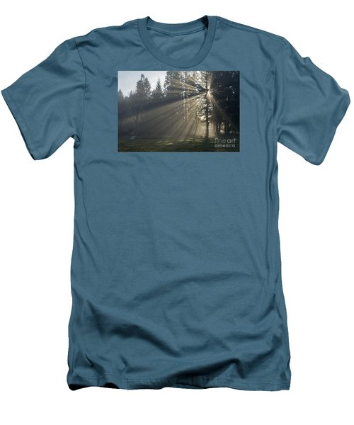Men's T-Shirt (Slim Fit) featuring the photograph Sunrays by Inge Riis McDonald