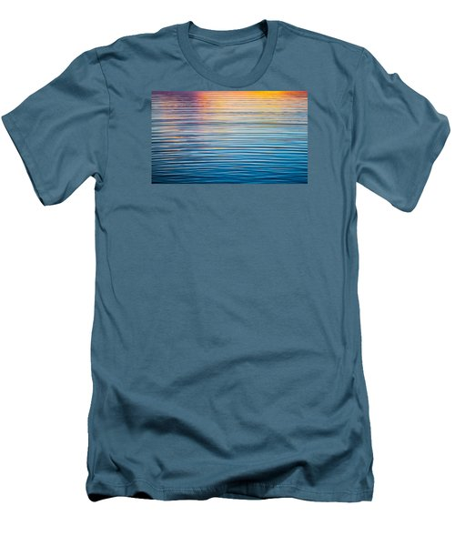 Sunrise Abstract On Calm Waters Men's T-Shirt (Slim Fit) by Parker Cunningham