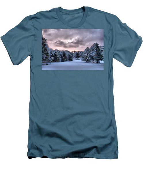 Sunrise After The Snow  Men's T-Shirt (Slim Fit) by Betty Pauwels