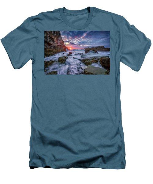 Sunrise At Bald Head Cliff Men's T-Shirt (Slim Fit) by Rick Berk