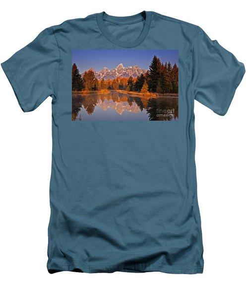 Sunrise At Schwabacher Landing  Men's T-Shirt (Athletic Fit)