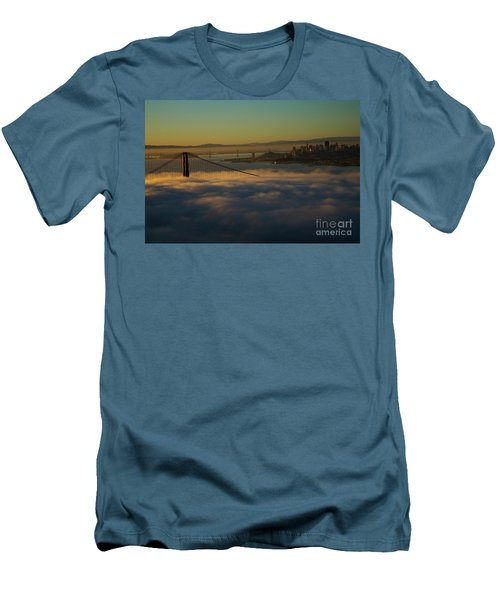 Men's T-Shirt (Slim Fit) featuring the photograph Sunrise At The Golden Gate by David Bearden