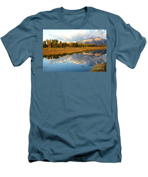Sunrise At The Tetons Men's T-Shirt (Athletic Fit)