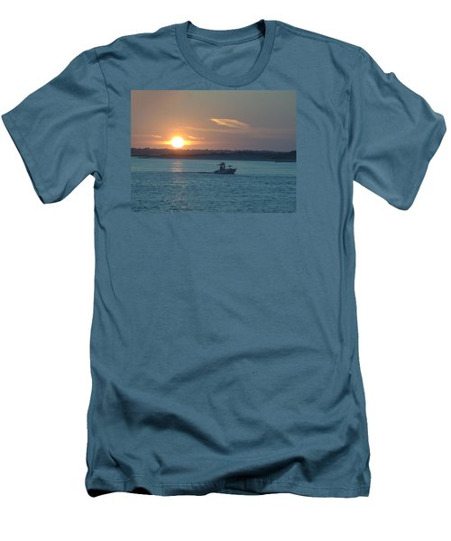 Men's T-Shirt (Slim Fit) featuring the photograph Sunrise Bassing by  Newwwman