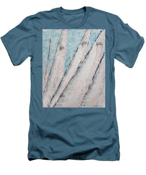 Men's T-Shirt (Athletic Fit) featuring the painting Sunrise Fog Regatta by Ben Gertsberg