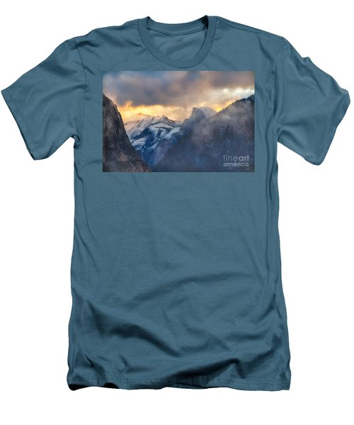 Sunrise Half Dome Men's T-Shirt (Athletic Fit)